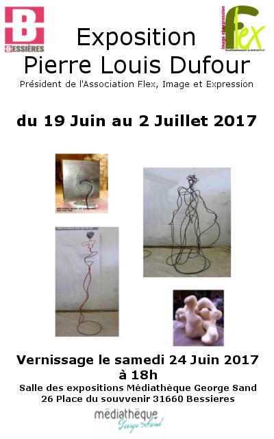 Exposition Pierre Louis Dufour à la médiathèque