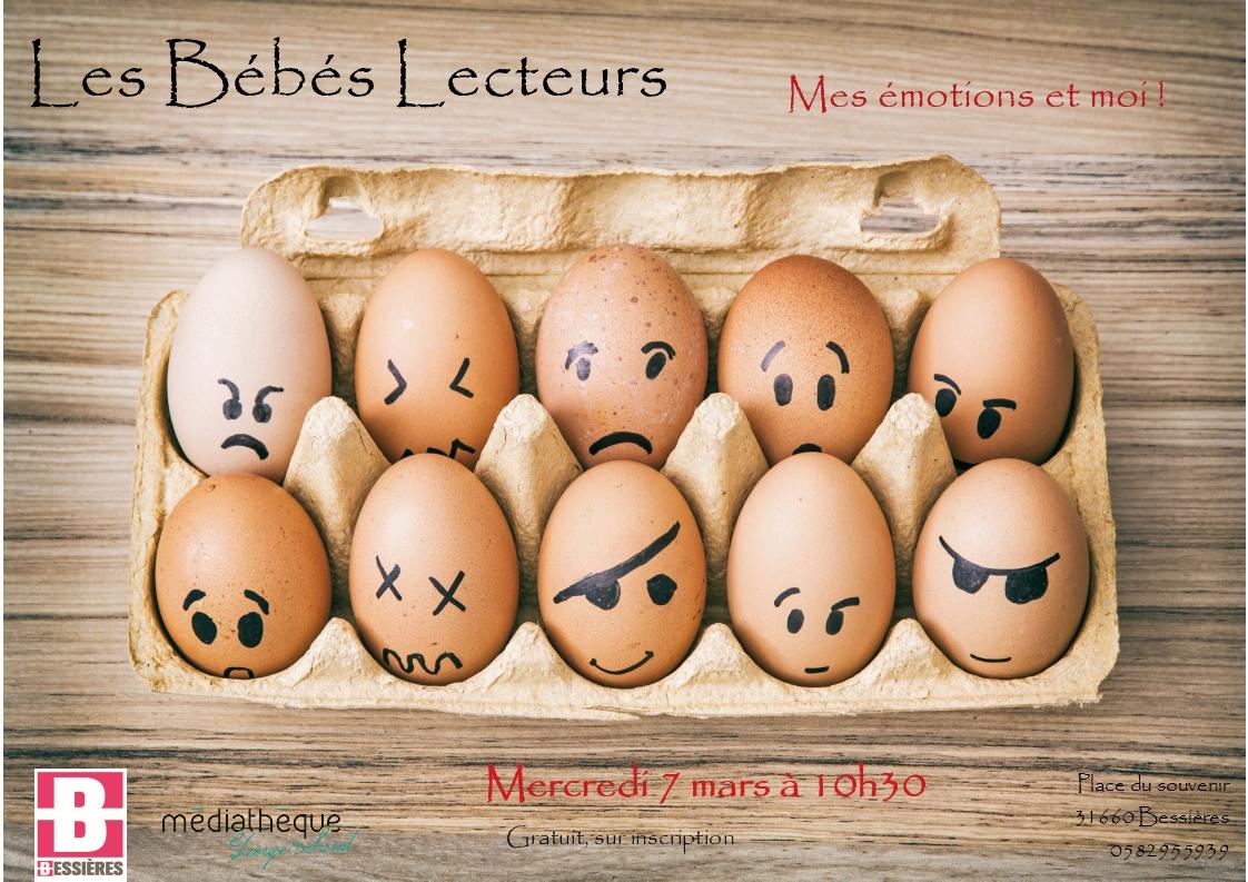 Bébés Lecteurs le 7 mars 2018 : Mes émotions et moi!