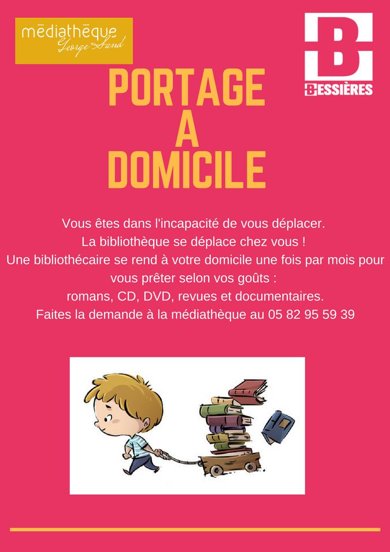 Portage de livres à domicile- La Médiathèque se déplace chez vous