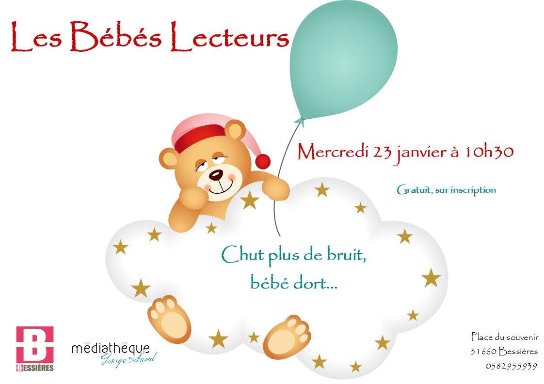 Bébés Lecteurs: chut plus de bruit, bébé dort! Mercredi 23 janvier 10h30