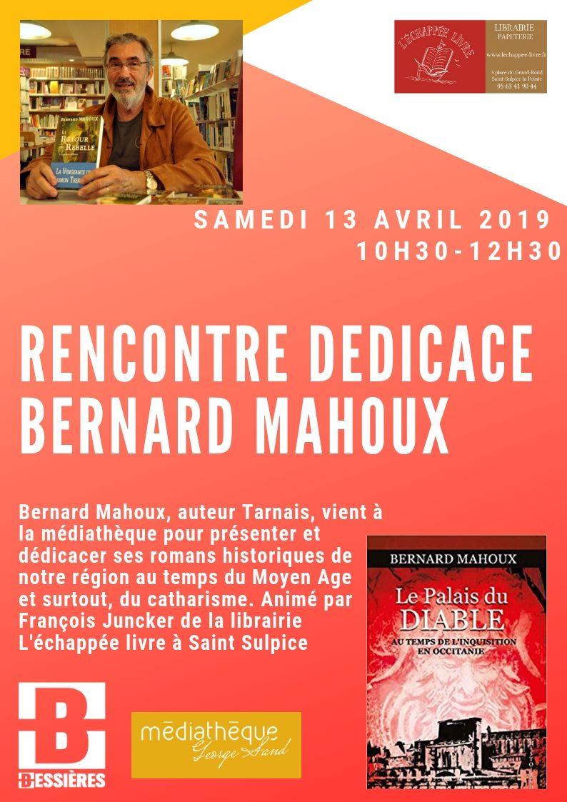 Rencontre-Dédicace Bernard Mahoux