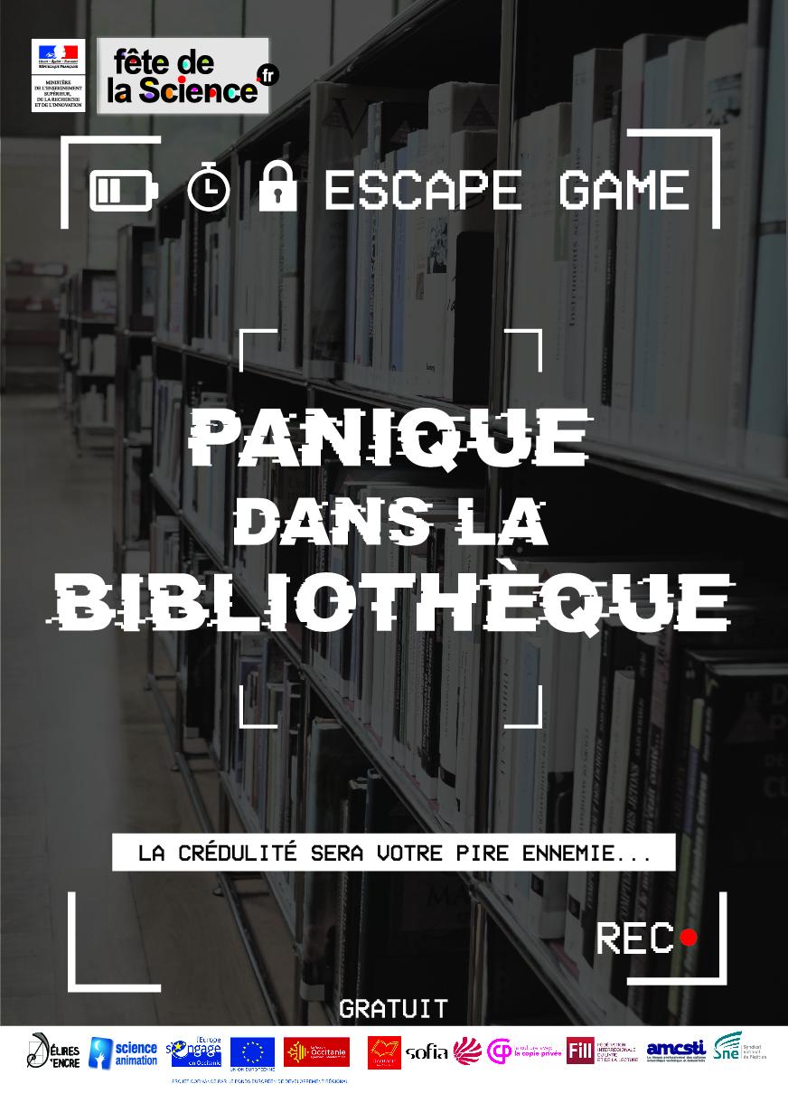 Escape game: panique à la médiathèque COMPLET