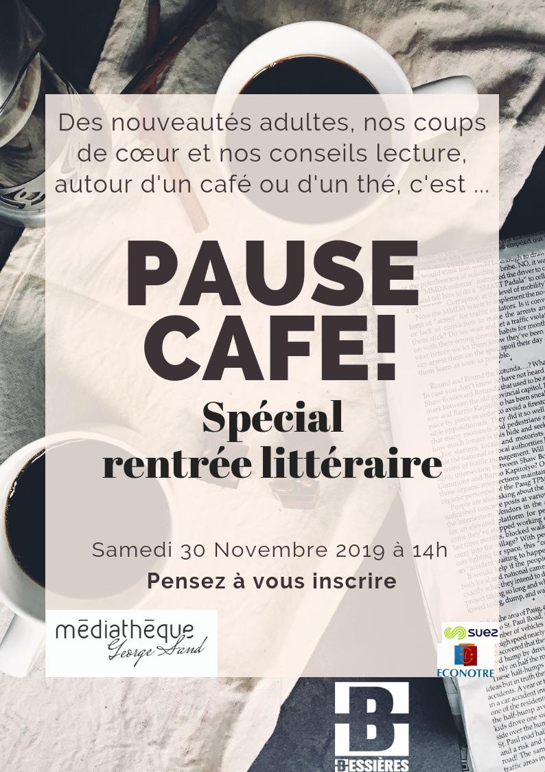 Pause café samedi 30 novembre à 14h