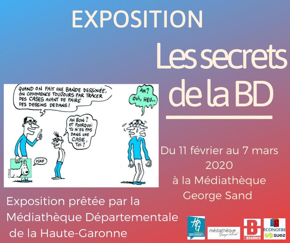 """Exposition """"Les secrets de la BD"""""""