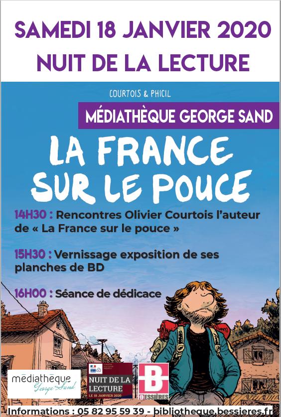 NUIT DE LA LECTURE: OLIVIER COURTOIS, Samedi 2 janvier 2020