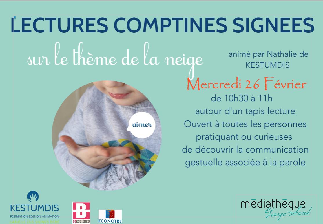 Bébés lecteurs par l'Association Kestumdis Mercredi 26 février 2020 à 10h30