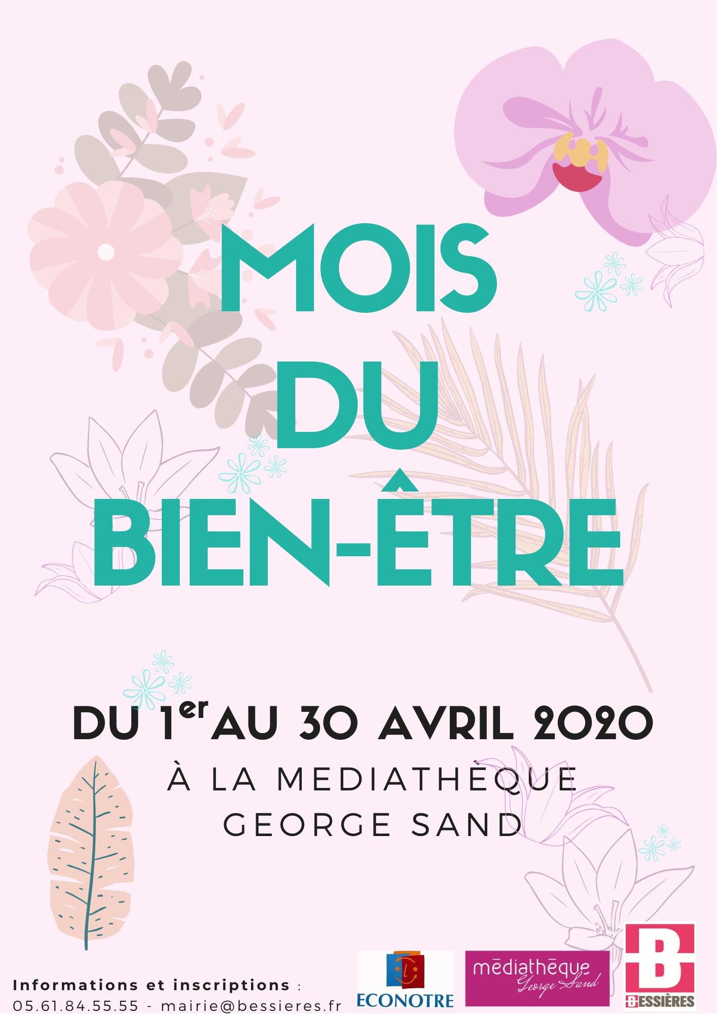 ANNULE Mois du bien être à la médiathèque George Sand