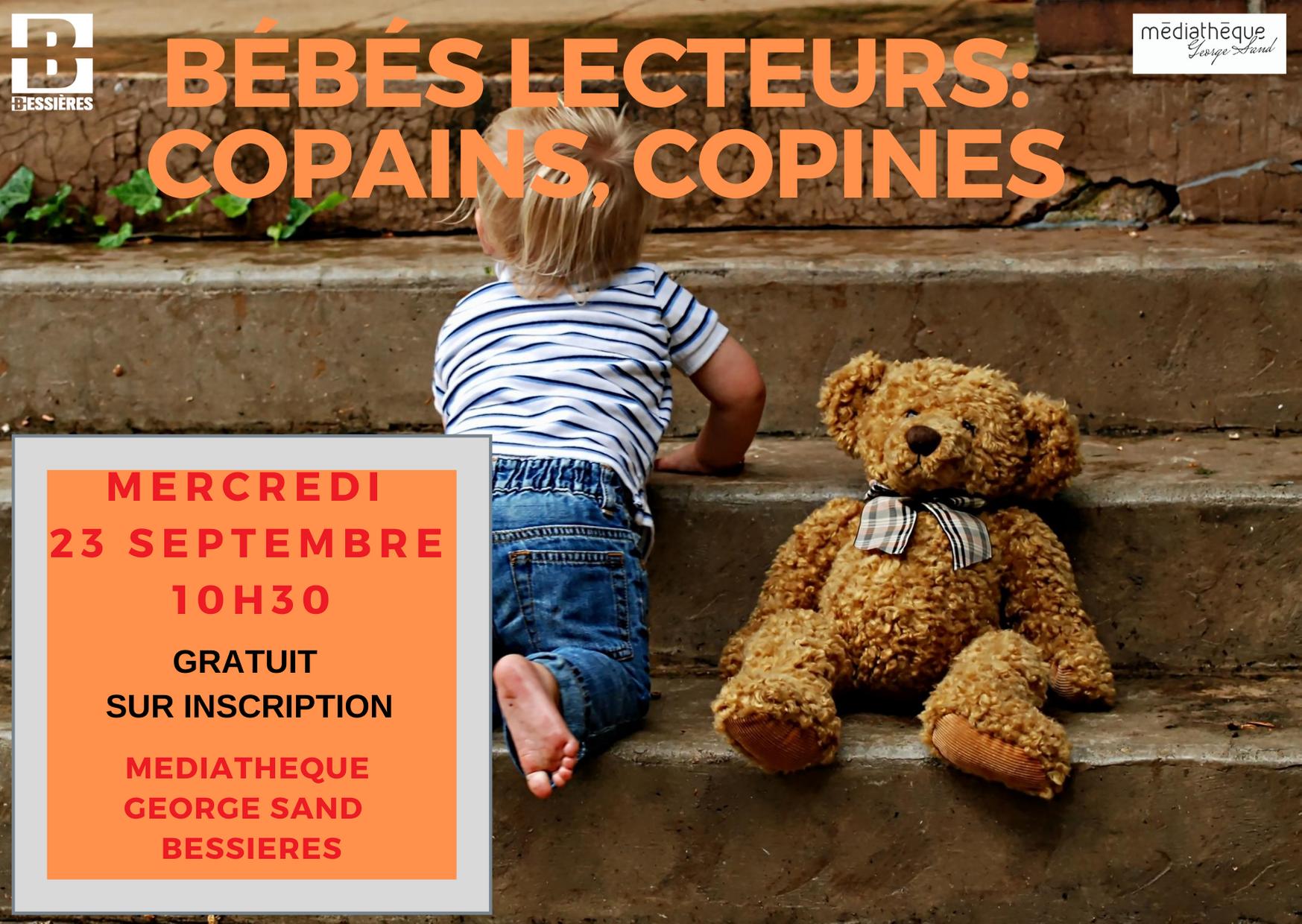 Bébés lecteurs: Copains, Copines. Mercredi 22 Septembre 2020