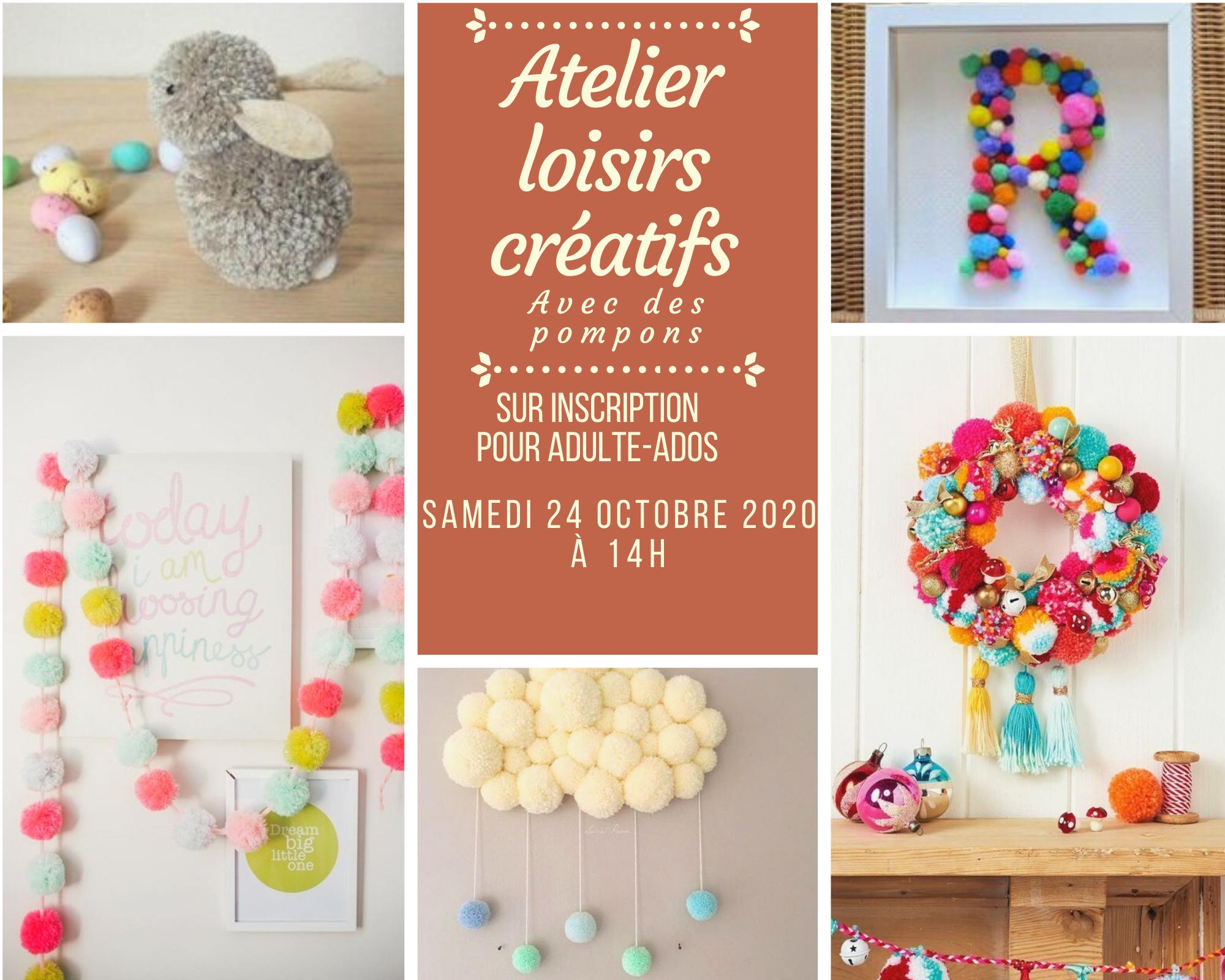 Atelier Pompons samedi 24 octobre 2020 à 14h