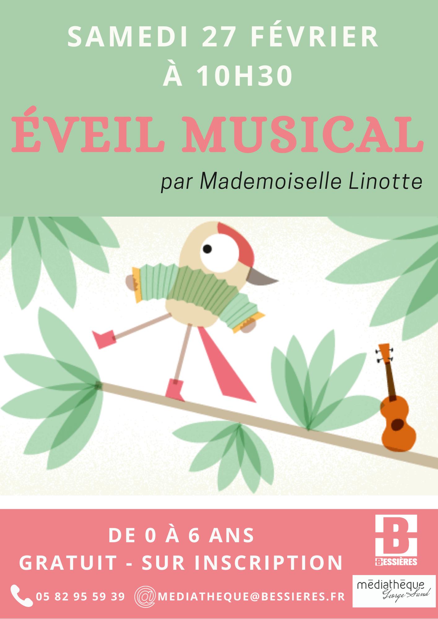 Éveil musical – Samedi 27 Février 2021