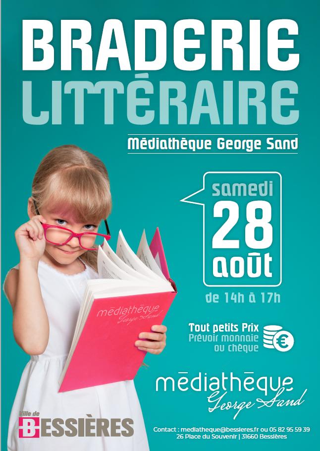 BRADERIE MEDIATHEQUE SAMEDI 28 AOUT 14H-17H