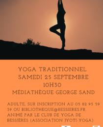 Noir et Blanc Journée Internationale du Yoga Affiche